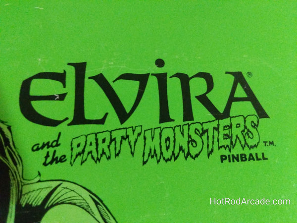 Elvira and the Party Monsters- Bally - Pinball Manual  - Schematics - Instructions - Book - Used Copy