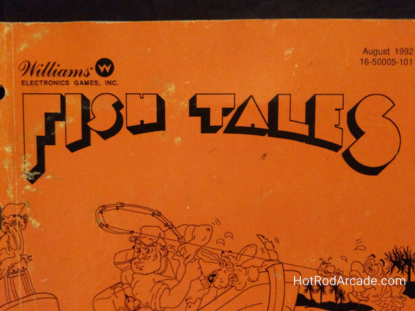 Fish Tales- Williams - Pinball Operators Manual - Wiring Schematics - Used Copy