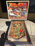 SOLD - Bally Nitro Groundshaker Pinball Machine - Works great, New CPR Backglass!