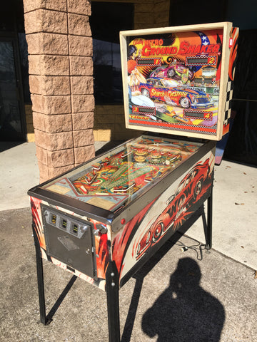 Bally Nitro Groundshaker Pinball Machine - Works great, New CPR Backglass!