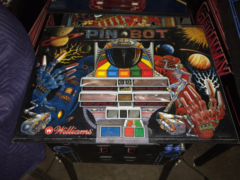 Williams Pinbot Pinball Backglass Translite