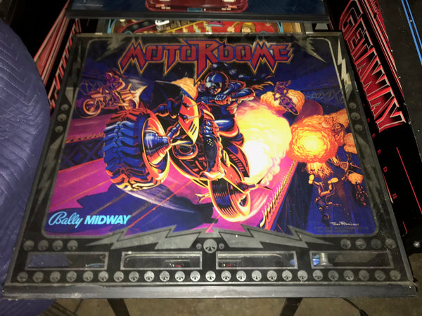 Bally Motordome Pinball Backglass