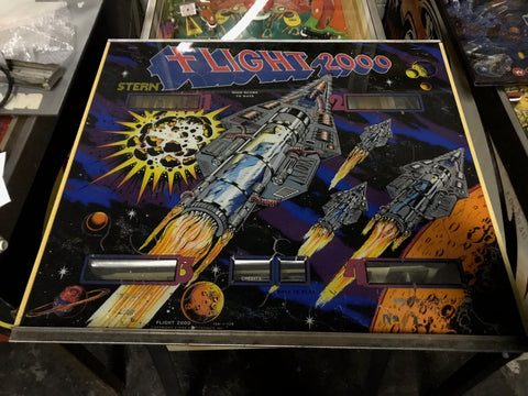 Stern Flight 2000 Pinball Backglass Translite