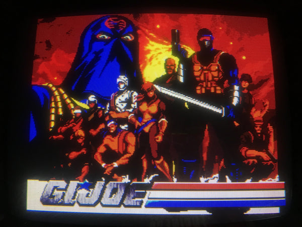 Konami GI Joe Arcade Game 2 Player Works great!