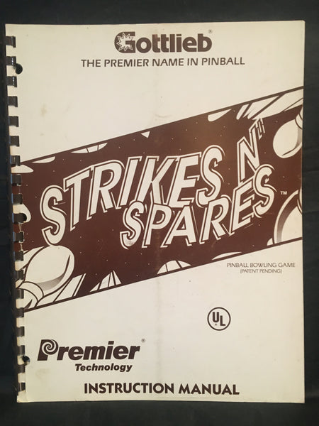 Strikes and Spares - Bally Schematics Manual - Used