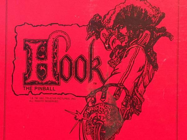 Hook: The Pinball - Data East- Pinball Manual  - Schematics - Parts - Used