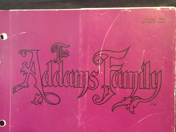 The Addams Family WPC Schematics - Bally - Pinball Manual - Instructions - Used Copy
