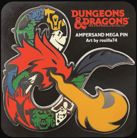 Dungeons & Dragons Stylized Ampersand Mega Pin