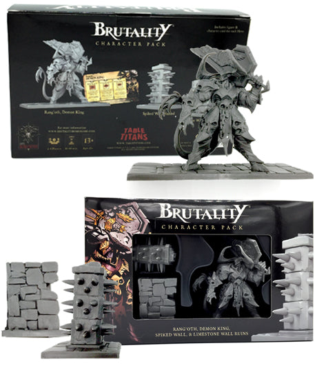 BRUTALITY: RANG'OTH, DEMON KING, SPIKED WALL, & LIMESTONE WALL RUINS