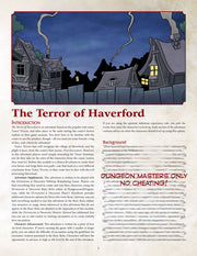 Terror of Haverford Adventure Module (5e)