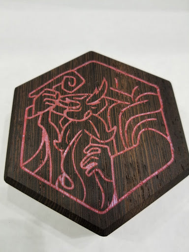 WENGE HEX CHEST DICE BOX - SCOTT KURTZ EDITION