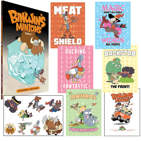 BINWIN'S MINIONS VOLUME 1 + PRINTS, STICKERS, & SIGNED BOOKPLATE