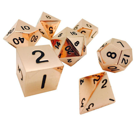 COPPER STILL 7 PIECE METAL DICE SET