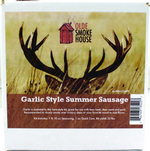 Complete Garlic Style Summer Sausage Kit