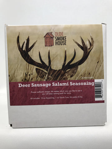 Complete Deer Sausage Salami Seasoning Kit