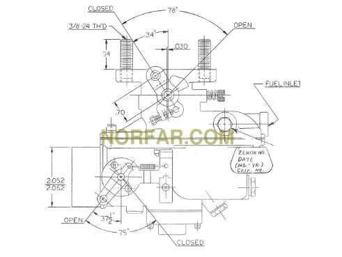 Tractor Carburetor for Ford 5200, 6600 and 5500 & 5550