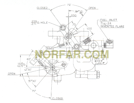 continental y112 carburetor ca8f-361 - norfar.com f 162 continental engine diagram