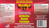 MyoMed P.R.O. Arthritis Relief Formula Ingredients Label