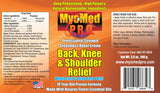 MyoMed P.R.O. Back Knee & Shoulder Relief Cream Ingredient Label