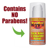 MyoMed P.R.O. Back Knee & Shoulder Relief Formula Contains No Parabens