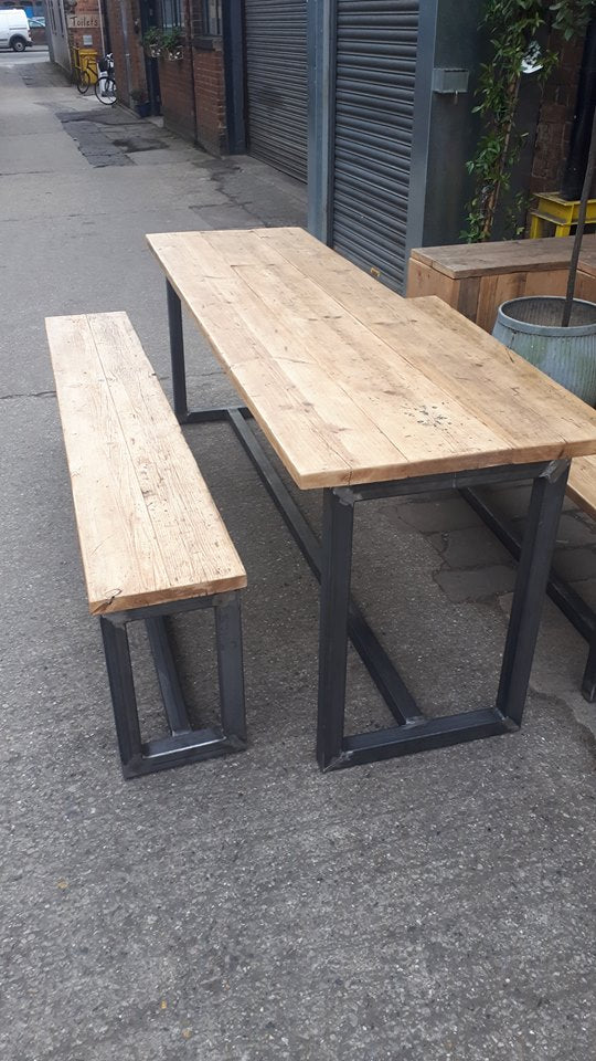 Our latest piece is this lovely 2.2mtr long table & benches