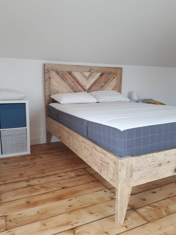 Double Bed - made from reclaimed timber