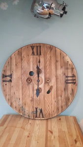 Upcycled Cable Drum Clock