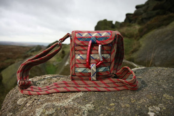 Up-cycled cross body bag