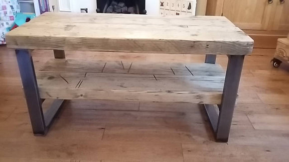 Reclaimed Timber Table / Media Unit