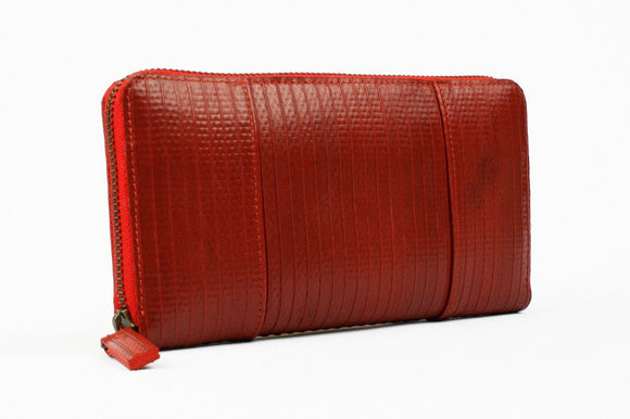 Elvis & Kresse red purse - Re-purposed fire hose