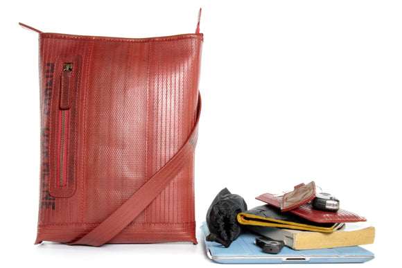 Reporter Bag by Elvis & Kresse from re-purposed fire hose