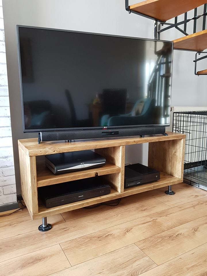 Tv Media Unit Made From Reclaimed Scaffold Boards Productfusion
