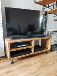 TV / Media Unit - made from reclaimed scaffold boards
