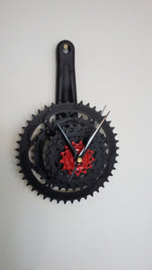 Upcycled bike cog clock