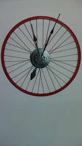Upcycled Bike Wheel Clock