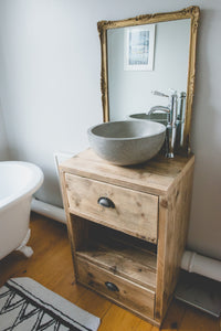 Vanity Unit from reclaimed scaffold boards