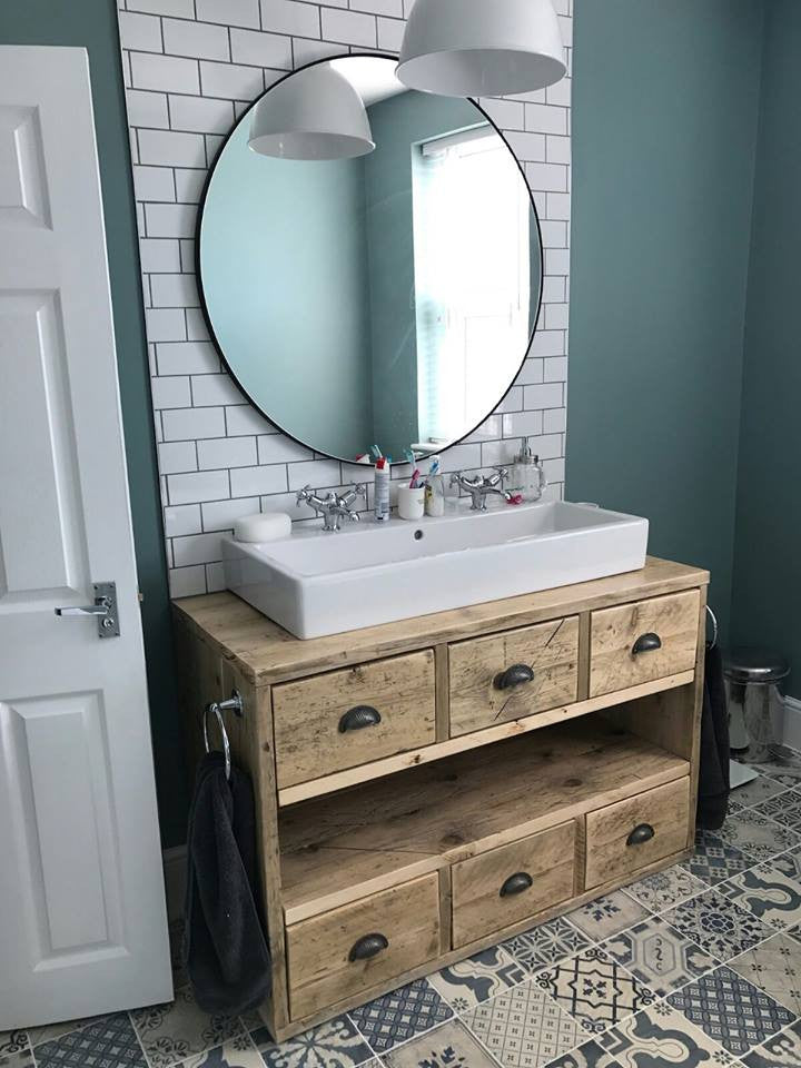 Looking To Purchase This Unit: Vanity Unit Made From Scaffold Boards