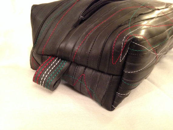 Upcycled innertube washbag - Rubber Dub Dub by Velo Culture
