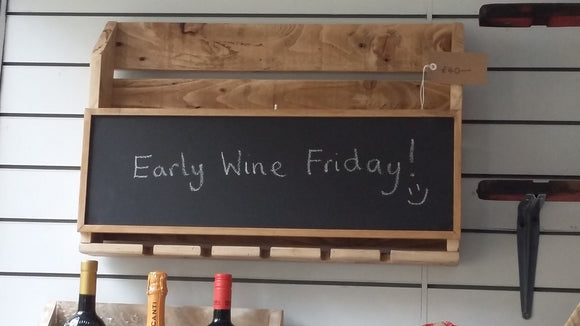 Chalk board wine rack