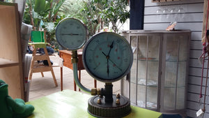 Clock / Thermometer made from up-cycled gauges