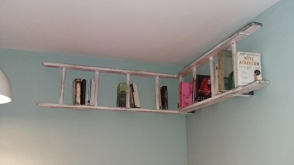 Up-cycled Ladder Bookshelf