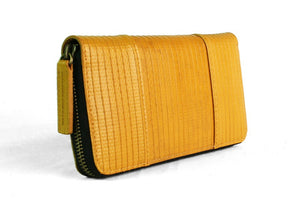 Elvis & Kresse yellow purse - Re-purposed fire hose