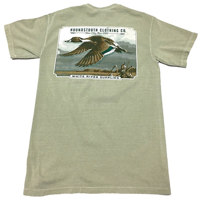 Woodcut Pintail Short Sleeve T-Shirt