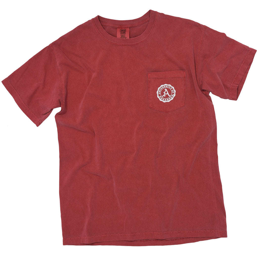 Red University of Arkansas Razorback T shirt for Gameday.