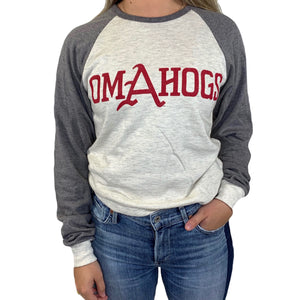OMAHOGS FRONT ONLY RAGLAN