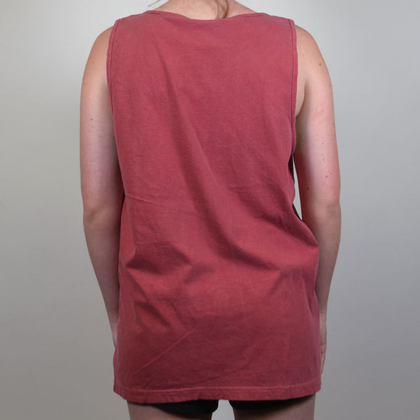 Simple crimson red University of Arkansas Razorback Tank Top with a Hog.