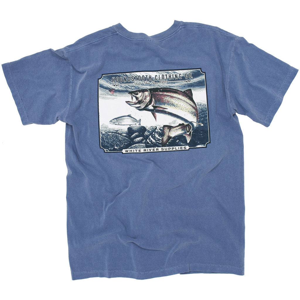 Woodcut Trout Short Sleeve T-Shirt