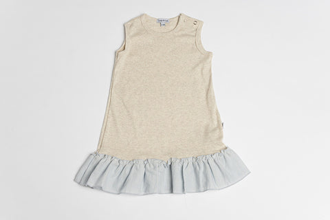 5th Ave Flutter Sleeveless- Oatmeal - Lucy & Leo - 1