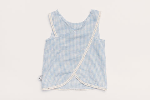 Bleecker Street Tank Blue Gingam