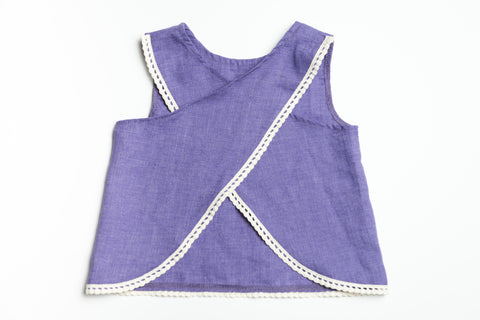 Thompson Tulip Tank - Purple - Lucy & Leo - 1